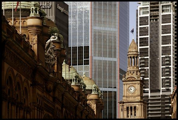 City Buildings, QVB and Town Hall clock tower